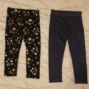 2 pairs of girls Wonder Nation leggings